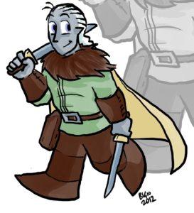 Drizzit, il nostro buonissimo eroe,com'era rappresentato nelle strisce più vecchie