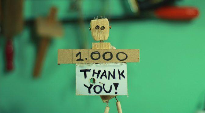 1000 volte grazie ai nostri 1000 fans!